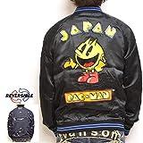 パックマン PAC-MAN PCM-01 リバーシブル スカジャン 刺繍 ドットアーケード ファミコン 昭和 ナムコ ゲーム メンズ