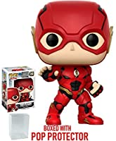 Funko POP 。Movies : DC Justice League – The Flash # 208 Vinyl Figure (バンドルwith Popボックスプロテクターケース)