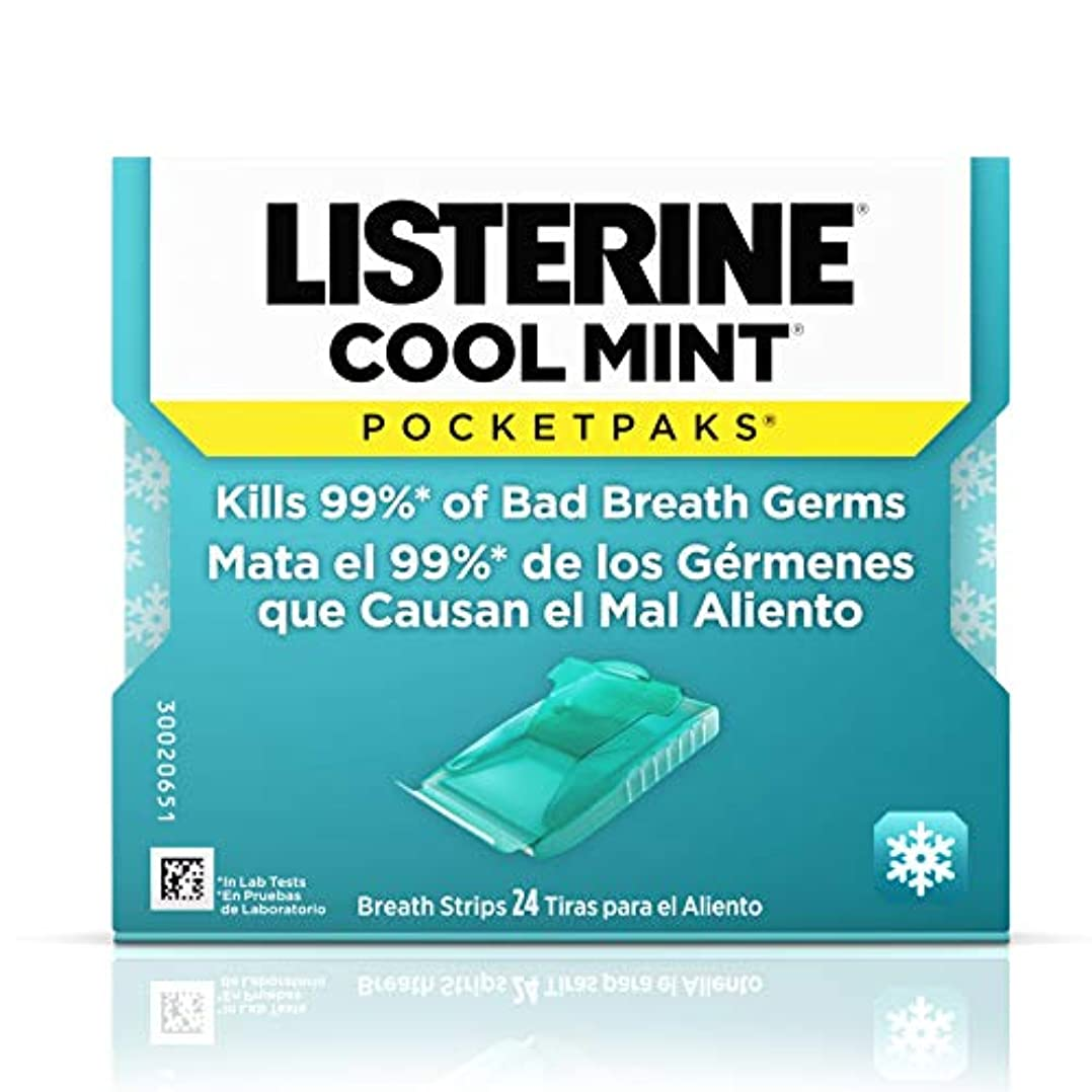 イタリアの拡散する退屈リステリン Listerine Pocketpaks Breath Strips Cool Mint 24-Count (Pack of 12)