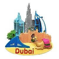 冷蔵庫マグネットBurj Al Arabドバイ3D樹脂手作りクラフト観光旅行都市土産コレクションレター冷蔵庫ステッカー