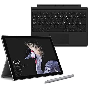 【Microsoft ストア限定】3点セット:Surface Pro (i5 / 256GB / 8GB モデル) + 専用 タイプ カバー (ブラック) + 専用 ペン (プラチナ) 【純正】JHH-00002
