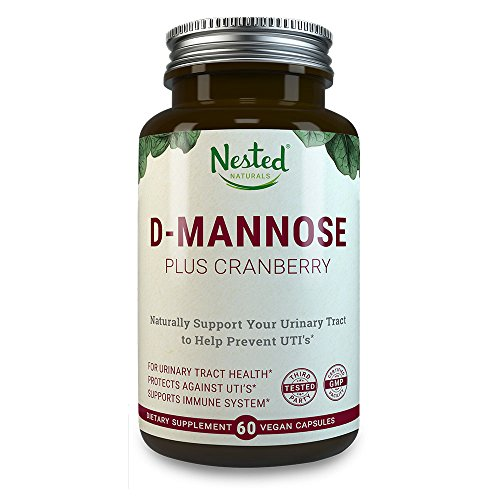 D-マンノース + オーガニッククランベリー | 泌尿器 & 膀胱感染症に - 効能がある自然療法 抗生物質よりも有効 - 尿路感染症の治療 - オーガニック・非GMO(遺伝子組み換えなし) Nested Naturals製品