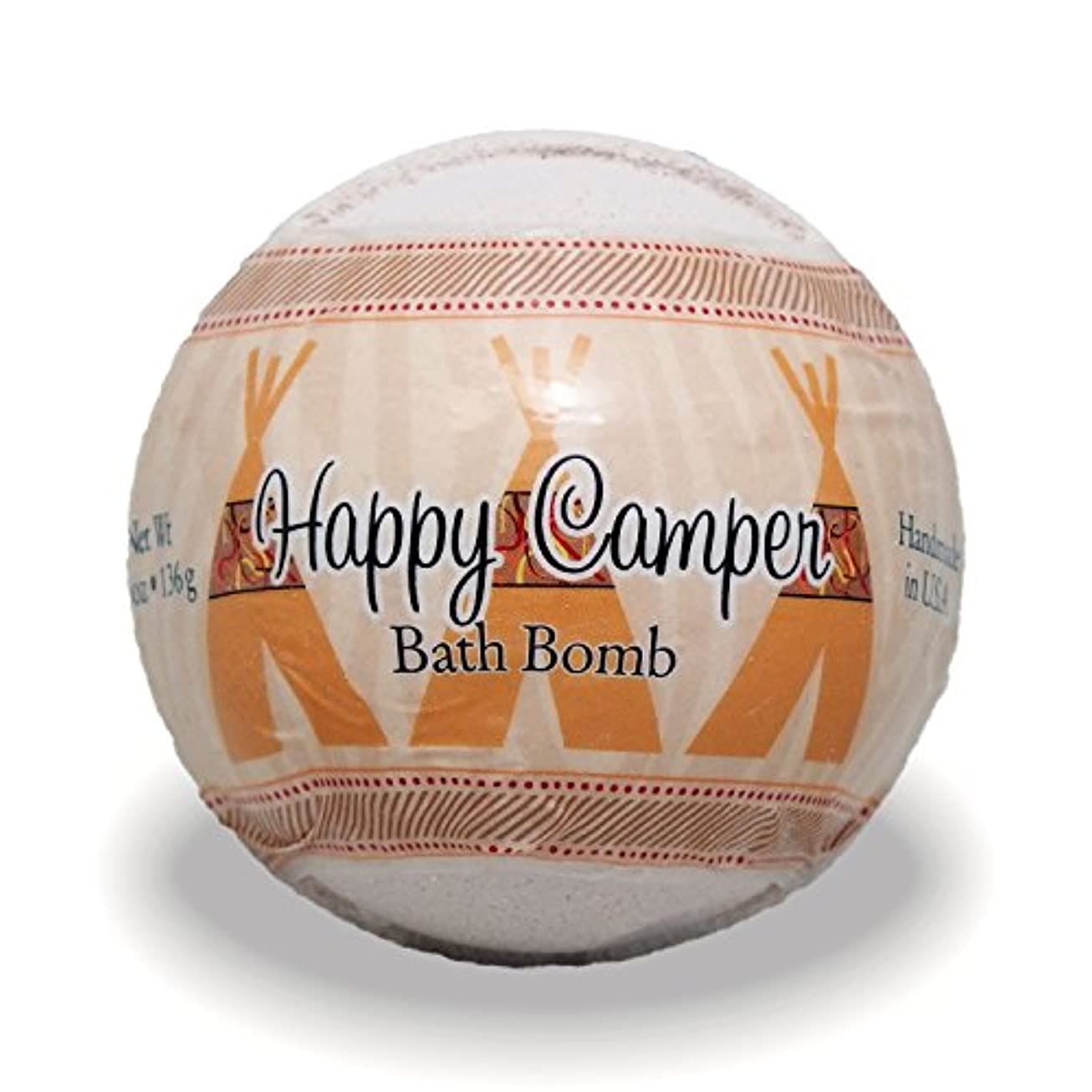 どこ笑い属するプライモールエレメンツ バスボム/ハッピーキャンパー 136g シアバターとココナツ&アルガンオイル配合のお肌に潤いを与える発泡性入浴剤