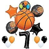 Mayflower Products バスケットボール 7歳の誕生日パーティー用品 ナッシングバットネットバルーンブーケデコレーション