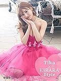 Tika USA L.Aインポートドレス 明日花キララ ドレス着用 フラワーリボンチュールミニドレス (チェリーピンク) (Sサイズ/Mサイズ/Lサイズ) la-md1805