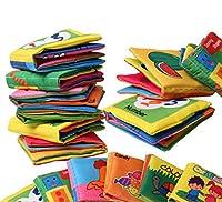 CHENGYIDA 6パックベビーソフトクロスブック、ソフトラトルペーパークロスブック幼児教育ベビーカーおもちゃ新生児ベビーベッドベビートイ0-12ヶ月