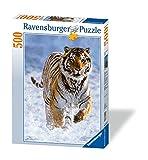 500ピース ジグソーパズル 雪の中でタイガー Tiger im Schnee (36 x 49 cm)