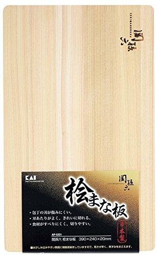 貝印 kai 関孫六 桧 まな板 390×240mm AP-5221
