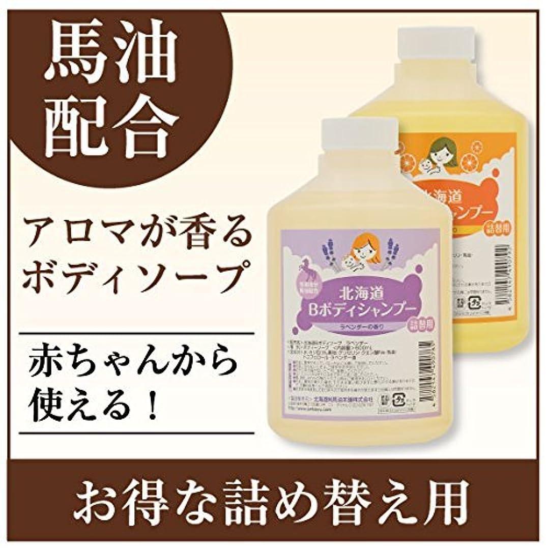 水陸両用侵入活気づく北海道Bボディシャンプー 600mL (オレンジ)
