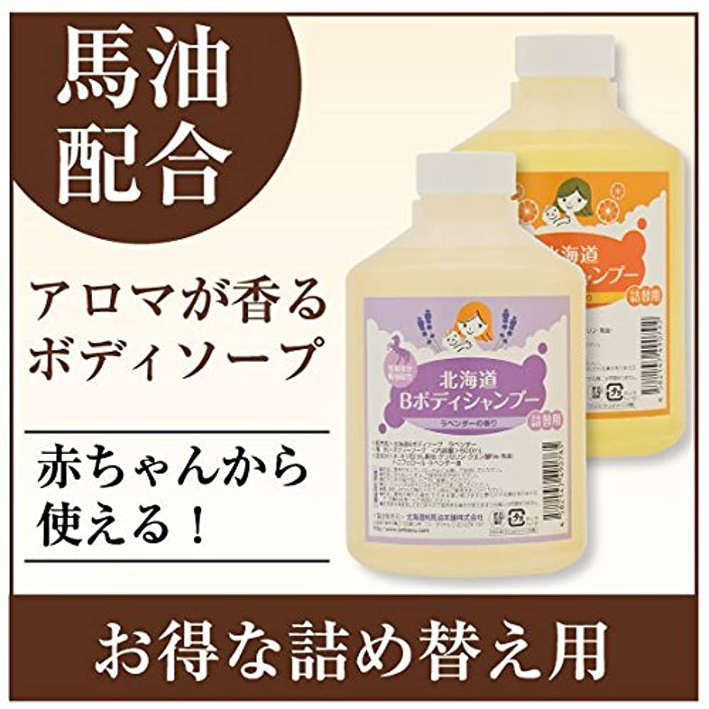 排気不確実感嘆北海道Bボディシャンプー 600mL (オレンジ)