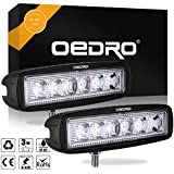 OEDRO LED Light Bar 2Pcs 6Inch 18W Spot Fog Lamp Driving Lights Off Road Lights Car Boat Lights LED Work Light Compatible for Truck SUV 4X4 4WD ATV Jeep, 3 years Warranty
