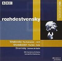 チャイコフスキー:バレエ音楽「くるみ割り人形」/ショスタコーヴィチ:バレエ音楽「ボルト」/ストラヴィンスキー:バレエの情景(抜粋)(ロジェストヴェンスキー)(1981, 1987)