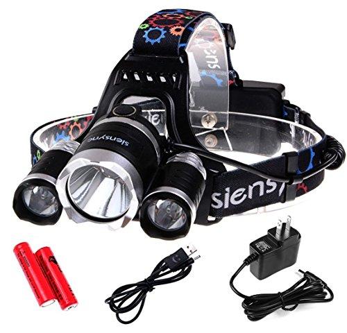 5000ルーメン LEDヘッドライト Siensync(TM) 3x CREE XM-L XML T6 4モード 超強力 防水 軽量 アウトドアー 夜釣り 工事作業 自電車 ハイキング キャンプ