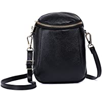 Zg Girls Women 100% Real Leather Small Cute Crossbody Cell Phone Purse Wallet Bag with Shoulder Strap Fits for iPhone 6 7 8 Plus 10 and Samsung Galaxy S7 Edge S9 S10 Plus Note 9