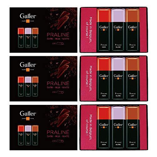 Galler ガレー チョコレート ミニバー3個入 3セット (プラリネ)