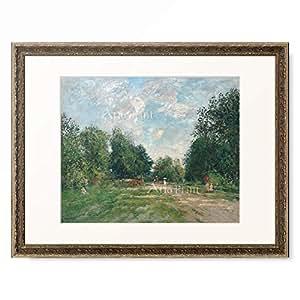 ウジェーヌ・ブーダン Eugène-Louis Boudin 「The Park Cordier in Trouville. 1880-85」 額装アート作品