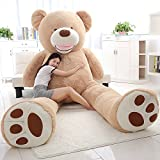 ぬいぐるみ 特大 くま/テディベア 可愛い熊 動物 大きい くまぬいぐるみ/熊縫い包み/クマ抱き枕/お祝い/ふわふわぬいぐるみ (ブラウン, 200cm)