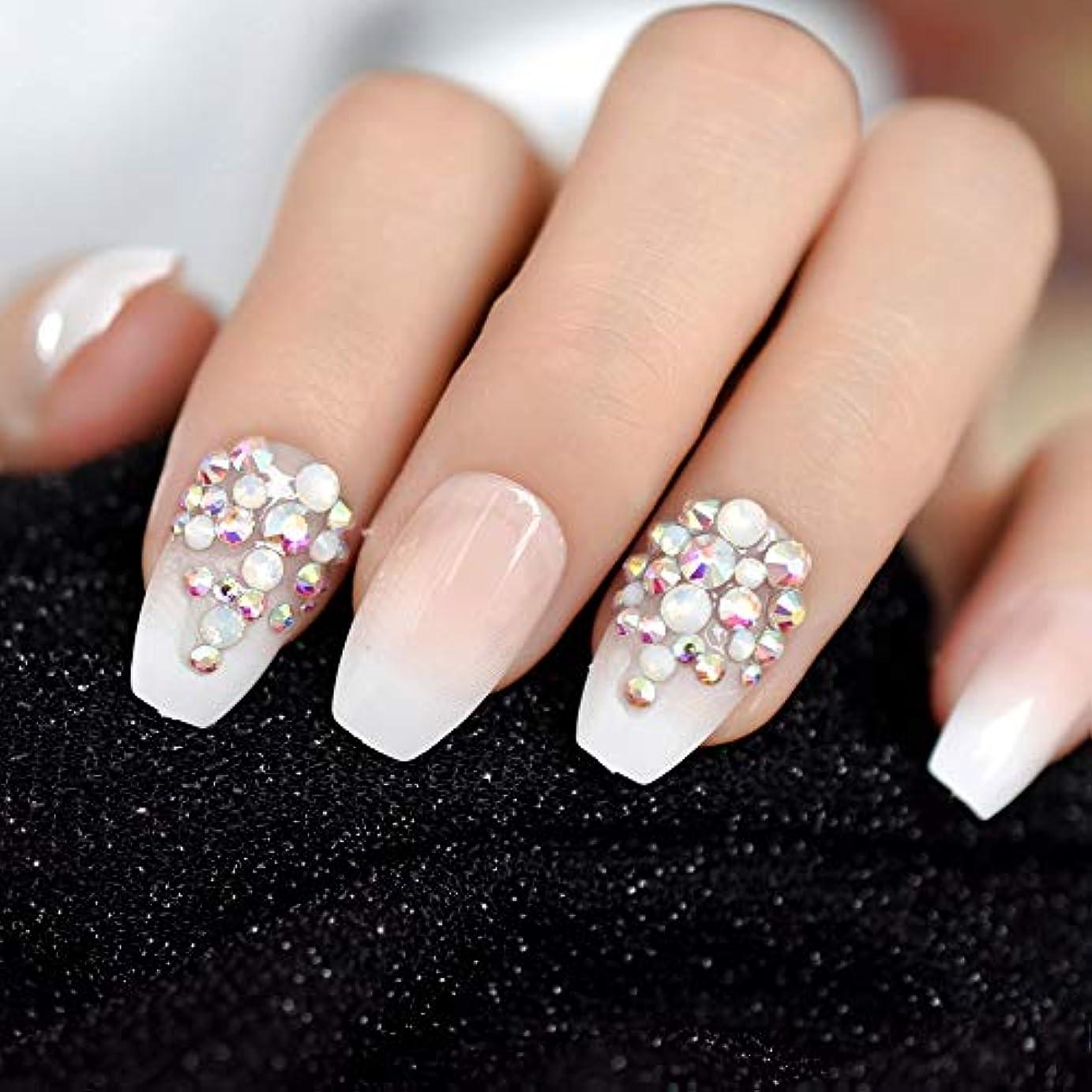 ねじれ花輪祝福するXUTXZKA 毎日のオフィスの指のピンクの偽造品の釘Gradeint Natrualプレス