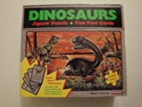 フリップトップボックス恐竜ジグソーパズル+ FUN Factカード