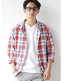 (コーエン) COEN ワイシャツ スラブチェック七分袖シャツ 75106038029 メンズ