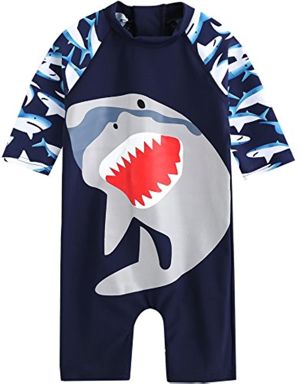 [Vaenait Baby] 入園入学準備アイテム 0-24ヶ月紫外線カット ラッシュガードベービー子供女の子長袖ワンピース水着