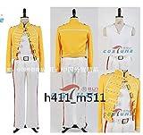 Freddie Mercury フレディ・マーキュリー風 後期 黄色 コスプレ衣装 全セットコスチューム 変身 仮装 ステージ服 舞台 ハロウィン クリスマス