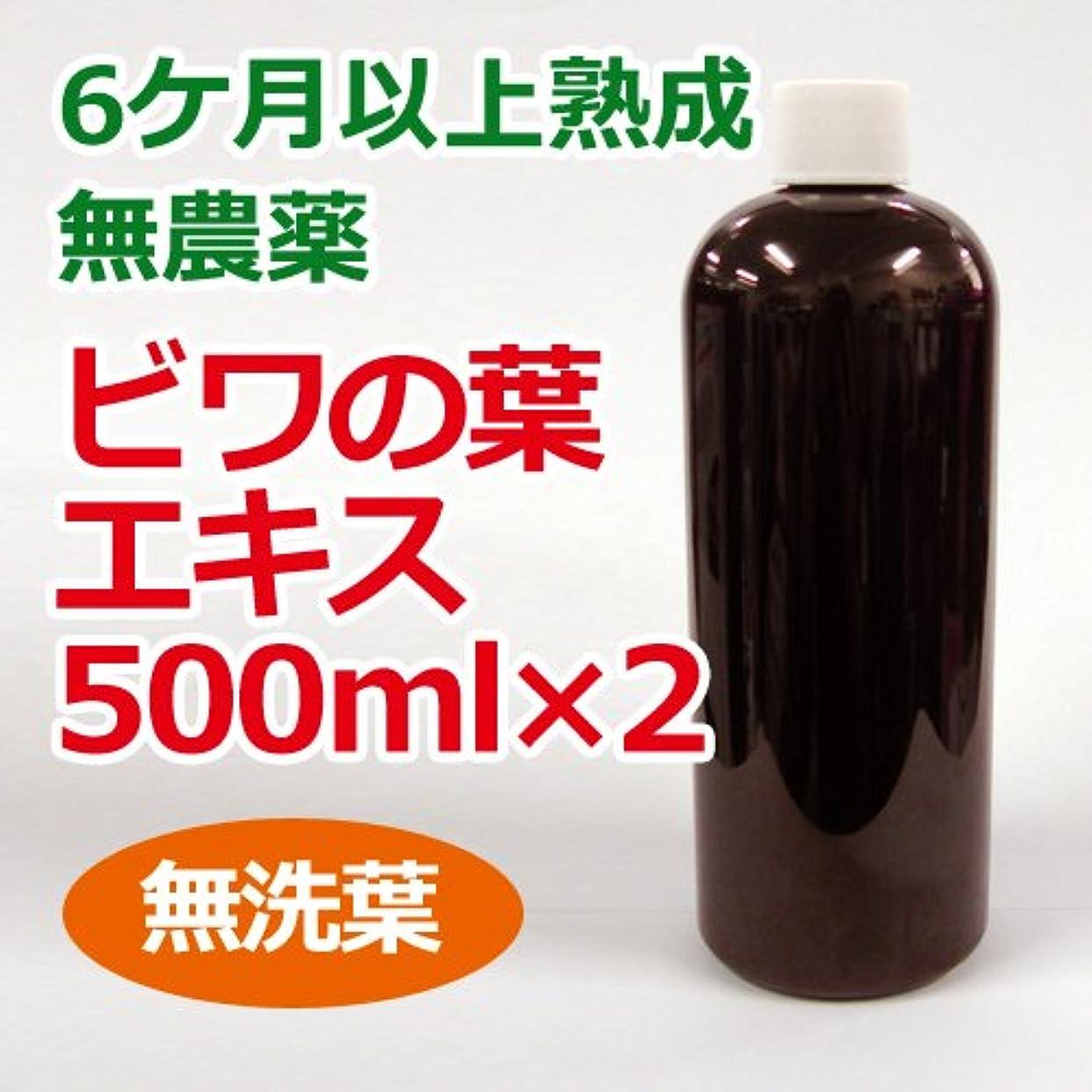 密ハシーウェイター6ケ月以上熟成 無農薬ビワの葉エキス(無洗葉)500ml×2本