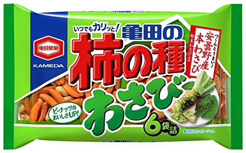 亀田製菓 亀田の柿の種わさび6袋詰 182g×6袋