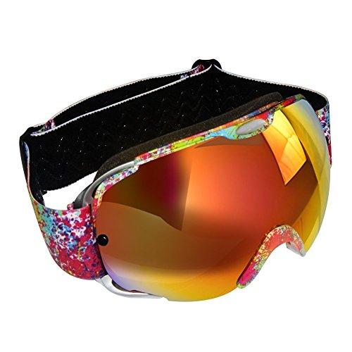 KABBスキーゴーグル、アダルトスノースポーツスノーボードゴーグル100%UVプロテクションの交換レ...