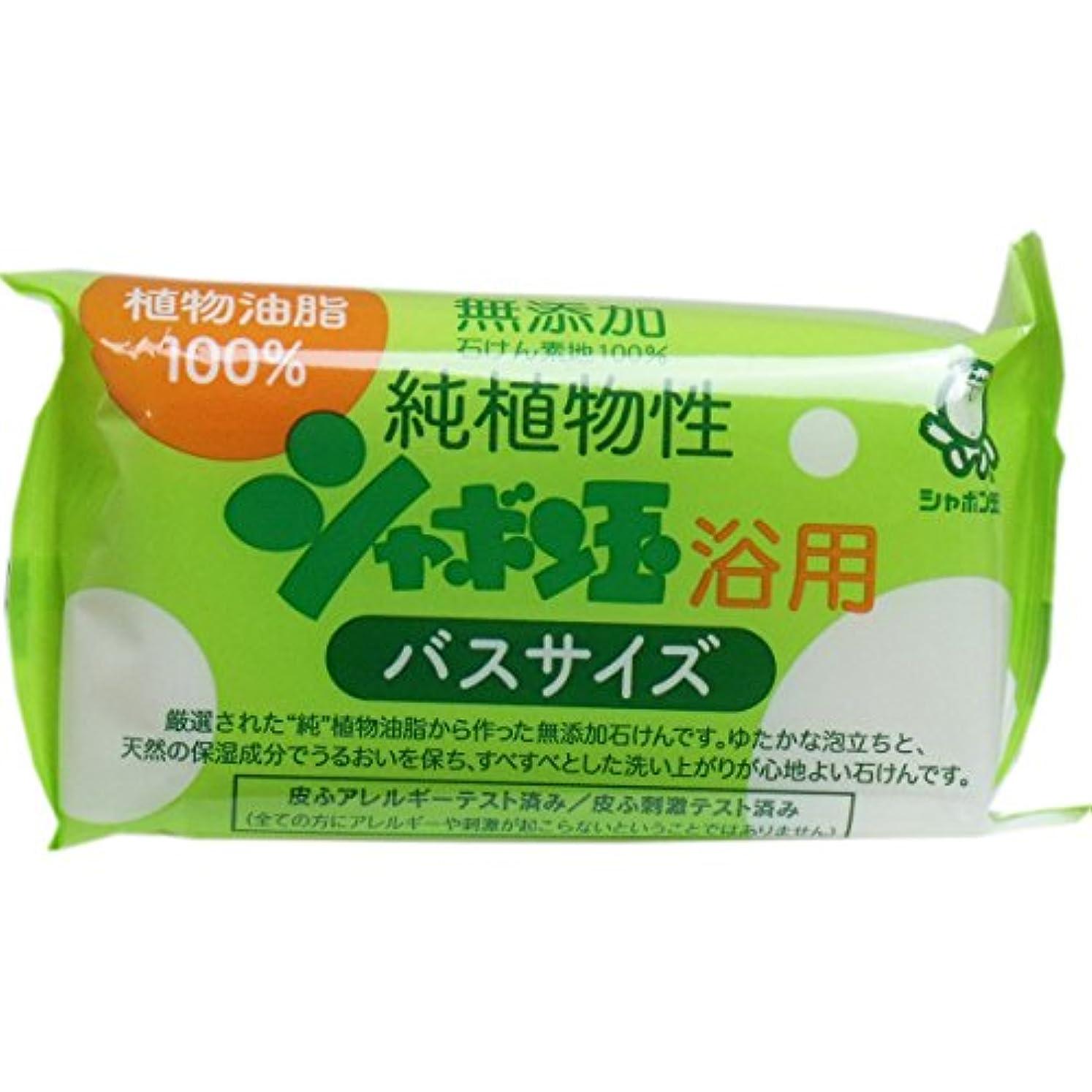 願う崇拝する桁無添加 シャボン玉 純植物性浴用石けん バスサイズ 155g(無添加石鹸)