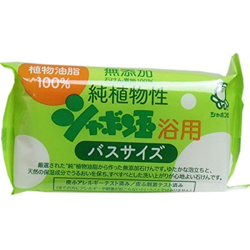 基礎本お手入れ無添加 シャボン玉 純植物性浴用石けん バスサイズ 155g(無添加石鹸)