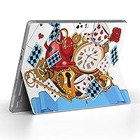 Surface go 専用スキンシール サーフェス go ノートブック ノートパソコン カバー ケース フィルム ステッカー アクセサリー 保護 ユニーク アリス トランプ 006790