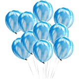 frontier ブルー マーブル柄 パールバルーン 結婚式 二次会 誕生日 10個 風船 セットパーティー クラブ 飾りつけ おしゃれ (マーブルバルーン10個(ブルー))