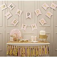誕生日 飾り付け KOOTIPS 装飾 風船 セット バースデー ガーランド 王冠 ペーパーフラワー フラッグガーランド HAPPY BIRTHDAY お祝い