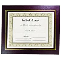 """8.5"""" x 11"""" Leather Grain Certificate Frame Two Pack, Burgundy by nu-dell [並行輸入品]"""