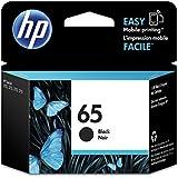 HP 65 Original Black Ink Cartridge, Black (N9K02AA)