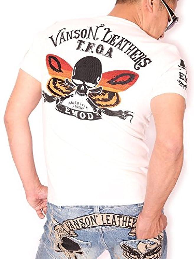 形引退する調停する(バンソン) VANSON×CROWS×WORST T.F.O.A×E.M.O.D 半袖Tシャツ CRV-726