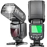 Neewer E-TTLスピードライトフラッシュ LCDディスプレイ、ハードディフューザー、保護バッグ付き Canon DSLRカメラ 7D Mark II、5D Mark II III IV、1300D、1200D、750D、700D、600D、80D、70D、60D(NW-562)に対応