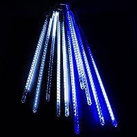イルミネーション スノーフォールライト LED スノードロップライト つらら 50cm10本セット ブルー&ホワイト 防水仕様 スティックLEDライト スノードロップ / 流れ星 / 防雨型 / 防水 / LED 電飾 / イルミネーションライト / 装飾 / 照明 / ライト / クリスマスライト
