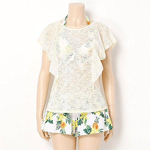 [해외]내츄럴 뷰티 (수영복) (NATURAL BEAUTY) 수영복 (경주 은폐 된 꽃 무늬 비키니 팬츠있는 4 종 세트)/Natural Beauty (Swimwear) (NATURAL BEAUTY) Swimwear (Floral bikini with lace coverup~ 4 pieces with pants)