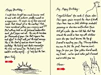 Quiplip Handwritten Yours Truly Birthday Cards 6-Pack (YT01086PCK) [並行輸入品]