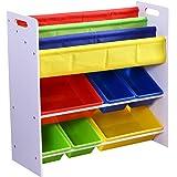 Levede Kids Toy Box Organiser Bookshelf 3 Tier Display Shelf Storage Rack Drawer