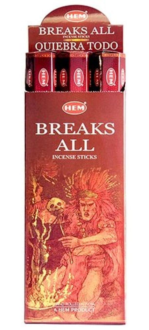 断言する入学する砂のHEM(ヘム)社 ブレイクスオール香 スティック BREAKS ALL 6箱セット