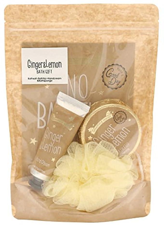 一般的なロースト価値のないノルコーポレーション バスセット サムシングスペシャル ジンジャー&レモンの香り OB-SCA-3-2