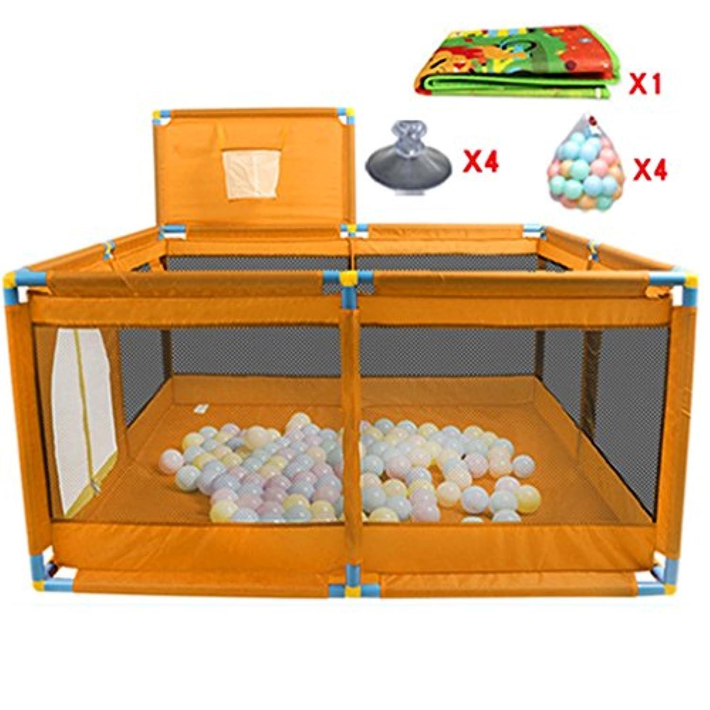 シートとボール、オックスフォード布フェンス8赤ちゃんPlayard女の子のためのパネルキッズアクティビティセンター女の子屋外屋内 (色 : オレンジ)