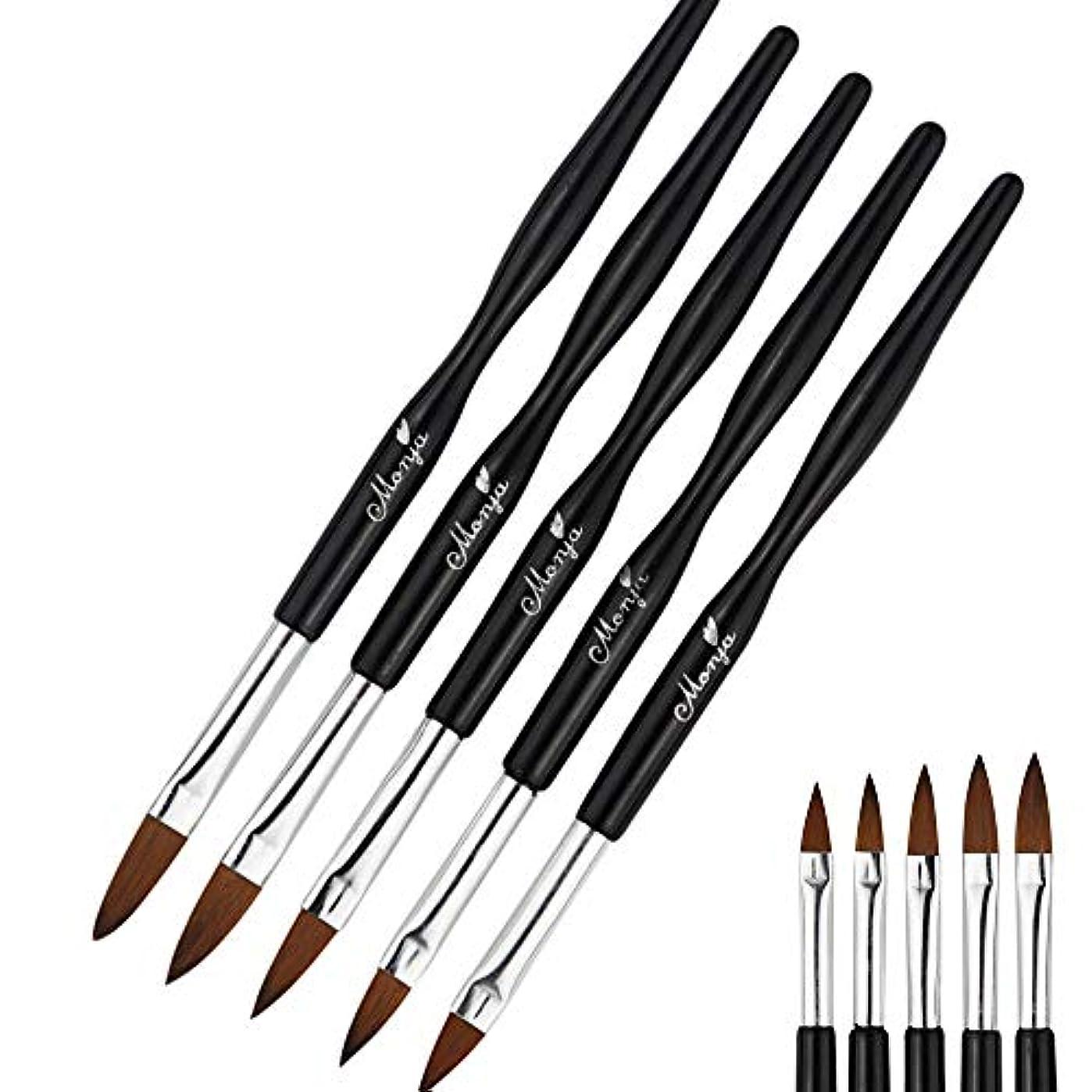 寄り添う利点言い換えるとKingsie ネイルブラシ 5本セット 黒 スカルプ ネイルアートブラシ アクリルネイル ジェルネイル ネイル筆 ネイルアートペン