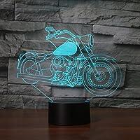 カラフルな新しいオートバイ3dランプ夜間ライトタッチテーブルデスクOptical Illusionランプ7色変更ライトホーム装飾クリスマス誕生日ギフト