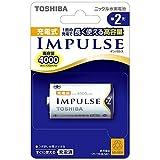 TOSHIBA ニッケル水素電池 充電式IMPULSE 高容量タイプ 単2形充電池(min.4,000mAh) 1本 TNH-2A