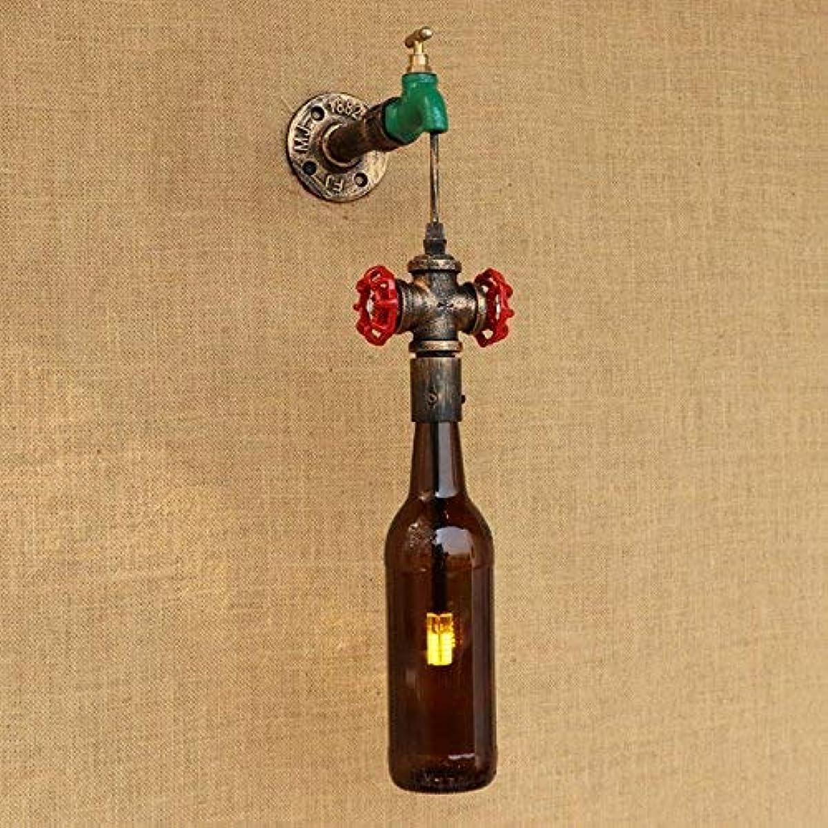 アミューズメントスポーツクール壁面ライト, デザインロフト水道管g4電球壁取り付け用燭台ウォールランプボトルランプシェード用リビングルーム寝室レストランバー220ボルト AI LI WEI