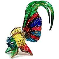 ガラスの動物 金魚 手作り手吹きガラスの ガラス細工 ガラスの置物 ガラス ミニチュア 動物の置物 家の装飾 玩具動物園キッ - Miniature Dollhouse Animals goldfish figurines Glass Blown Toy Zoo Kid